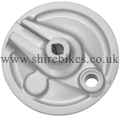 Honda Silver Front & Rear Brake Back Plate suitable for use with Z50J 12V