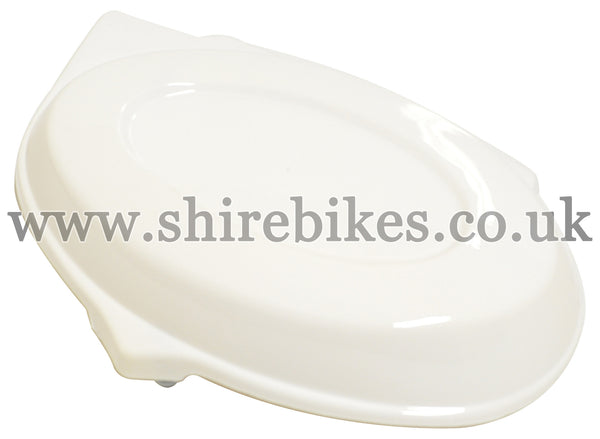 Reproduction White Side Cover suitable for use with Monkey Bike Motorcycles
