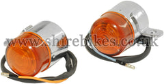 Reproduction Chrome Indicators (Pair) suitable for use with Z50A, Z50J1, Dax 6V