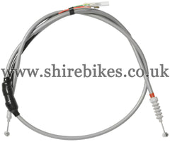 Reproduction Grey Rear Brake Cable with Brake Light Switch suitable for use with Z50A