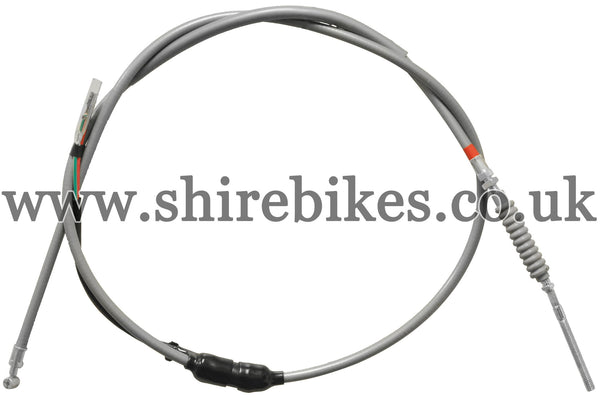 Reproduction (Threaded End) Grey Rear Brake Cable with Brake Light Switch suitable for use with Z50A