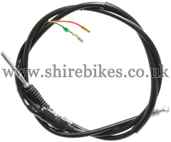 Honda Black Rear Brake Cable with Brake Light Switch suitable for use with Z50A