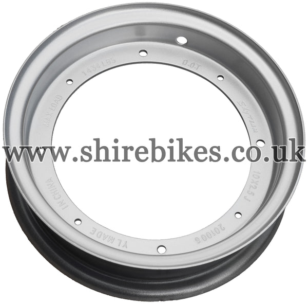 Reproduction Silver Standard Steel Wheel suitable for use with Dax 6V, Chaly 6V, Dax 12V