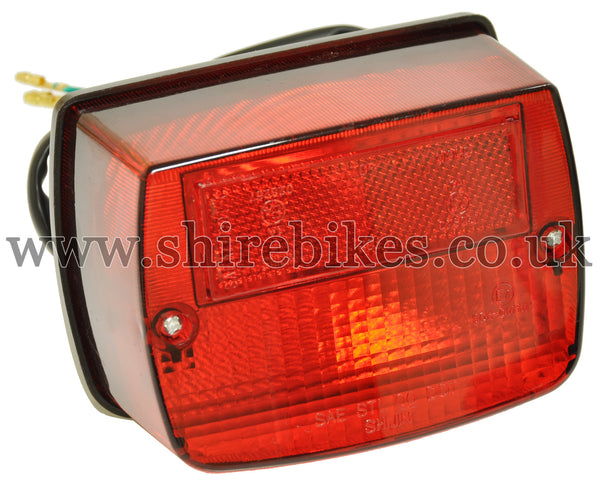 Zhen Hua 12V Square Rear Light suitable for use with SR50, SR125 & Jincheng M50