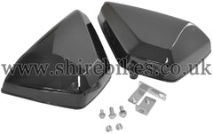 Custom Black Dual Side Cover Kit suitable for use with Monkey Bike Motorcycles