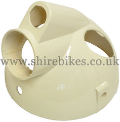 Cream Plastic Headlight Bowl suitable for use with Monkey Bike Motorcycles