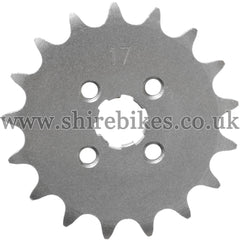 17T Front Sprocket suitable for use with CZ100, Z50M, Z50A, Z50J1, Z50R, Z50J, Dax 6V, Dax 12V, Chaly 6V, C90E