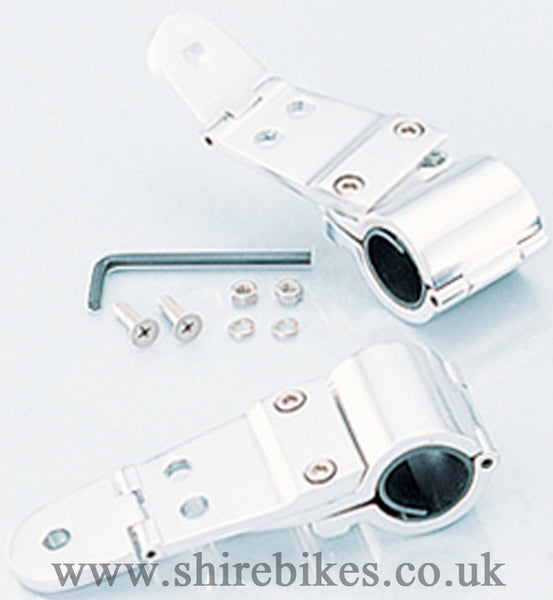 Kitaco 27-31mm Aluminium Headlight Stay Brackets suitable for use with Monkey Bike Motorcycles
