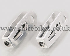 Kitaco Silver Aluminium Chain Adjusters (Pair) suitable for use with Monkey 125