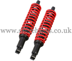 Kitaco 332mm Red Hydraulic Shock Absorbers (Pair) suitable for use with Monkey 125