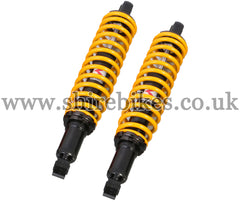 Kitaco 332mm Yellow Hydraulic Shock Absorbers (Pair) suitable for use with Monkey 125
