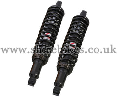 Kitaco 332mm Black Hydraulic Shock Absorbers (Pair) suitable for use with Monkey 125