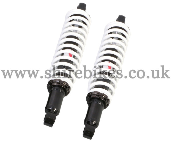 Kitaco 332mm White Hydraulic Shock Absorbers (Pair) suitable for use with Monkey 125