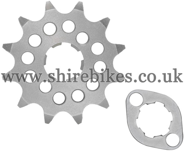 Kitaco 12T Front Sprocket & Retainer suitable for use with Z50A, Z50J1, Z50R, Z50J, Dax 6V, Chaly 6V, Dax 12V, C90E, MSX125 GROM, Monkey 125