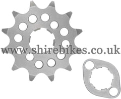 Kitaco 12T Front Sprocket & Retainer suitable for use with Z50A, Z50J1, Z50R, Z50J, Dax 6V, Chaly 6V, Dax 12V, C90E & Chinese Copies