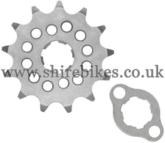 Kitaco 13T Front Sprocket & Retainer suitable for use with Z50A, Z50J1, Z50R, Z50J, Dax 6V, Chaly 6V, Dax 12V, C90E, MSX125 GROM, Monkey 125