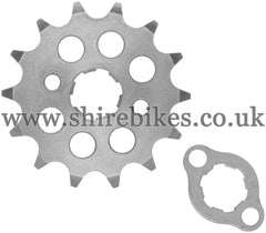 Kitaco 14T Front Sprocket & Retainer suitable for use with Z50A, Z50J1, Z50R, Z50J, Dax 6V, Chaly 6V, Dax 12V, C90E & Chinese Copies