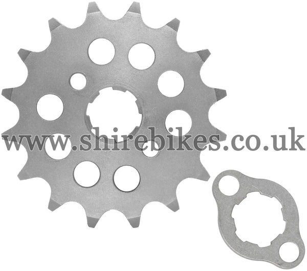 Kitaco 16T Front Sprocket & Retainer suitable for use with Z50A, Z50J1, Z50R, Z50J, Dax 6V, Chaly 6V, Dax 12V, C90E, MSX125 GROM, Monkey 125