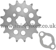 Kitaco 16T Front Sprocket & Retainer suitable for use with Z50A, Z50J1, Z50R, Z50J, Dax 6V, Chaly 6V, Dax 12V, C90E & Chinese Copies