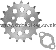 Kitaco 17T Front Sprocket & Retainer suitable for use with Z50A, Z50J1, Z50R, Z50J, Dax 6V, Chaly 6V, Dax 12V, C90E & Chinese Copies