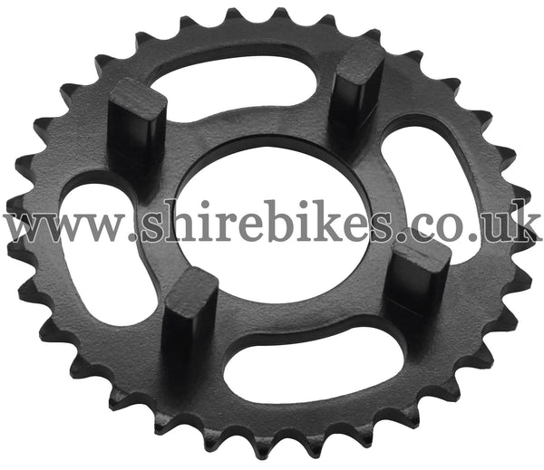 Kitaco 32T Black Rear Sprocket suitable for use with Dax 6V, Chaly 6V, Dax 12V