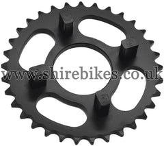 Kitaco 33T Black Rear Sprocket suitable for use with Dax 6V, Chaly 6V, Dax 12V