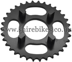 Kitaco 34T Black Rear Sprocket suitable for use with Dax 6V, Chaly 6V, Dax 12V