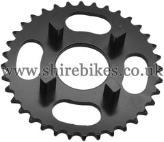 Kitaco 36T Black Rear Sprocket suitable for use with Dax 6V, Chaly 6V, Dax 12V