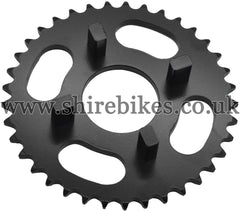 Kitaco 37T Black Rear Sprocket suitable for use with Dax 6V, Chaly 6V, Dax 12V