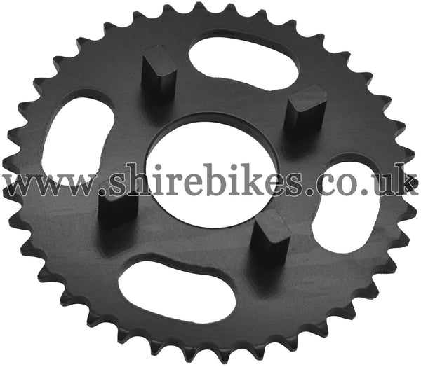 Kitaco 38T Black Rear Sprocket suitable for use with Dax 6V, Chaly 6V, Dax 12V