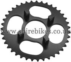 Kitaco 39T Black Rear Sprocket suitable for use with Dax 6V, Chaly 6V, Dax 12V