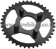 Kitaco 40T Black Rear Sprocket suitable for use with Dax 6V, Chaly 6V, Dax 12V