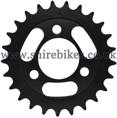 Kitaco 25T Black Rear Sprocket suitable for use with Z50A, Z50J1, Z50J, Z50R & Chinese Copies