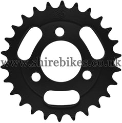Kitaco 26T Black Rear Sprocket suitable for use with Z50A, Z50J1, Z50J, Z50R & Chinese Copies