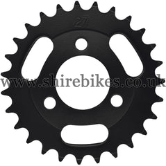 Kitaco 27T Black Rear Sprocket suitable for use with Z50A, Z50J1, Z50J, Z50R & Chinese Copies