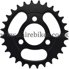 Kitaco 28T Black Rear Sprocket suitable for use with Z50A, Z50J1, Z50J, Z50R & Chinese Copies