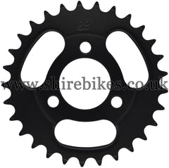 Kitaco 29T Black Rear Sprocket suitable for use with Z50A, Z50J1, Z50J, Z50R & Chinese Copies
