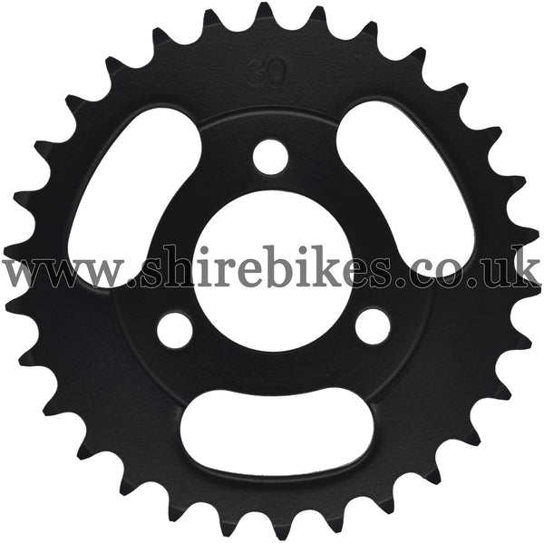 Kitaco 30T Black Rear Sprocket suitable for use with Z50A, Z50J1, Z50J, Z50R & Chinese Copies