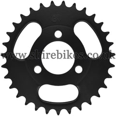 Kitaco 31T Black Rear Sprocket suitable for use with Z50A, Z50J1, Z50J, Z50R & Chinese Copies