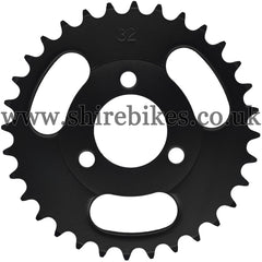 Kitaco 32T Black Rear Sprocket suitable for use with Z50A, Z50J1, Z50J, Z50R & Chinese Copies
