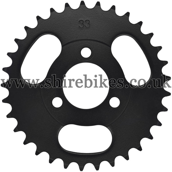 Kitaco 33T Black Rear Sprocket suitable for use with Z50A, Z50J1, Z50J, Z50R & Chinese Copies