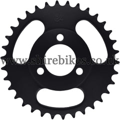 Kitaco 34T Black Rear Sprocket suitable for use with Z50A, Z50J1, Z50J, Z50R & Chinese Copies