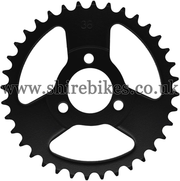 Kitaco 36T Black Rear Sprocket suitable for use with Z50A, Z50J1, Z50J, Z50R & Chinese Copies