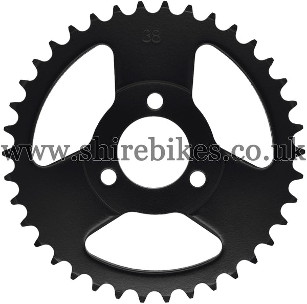 Kitaco 38T Black Rear Sprocket suitable for use with Z50A, Z50J1, Z50J, Z50R & Chinese Copies