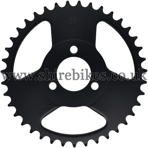 Kitaco 39T Black Rear Sprocket suitable for use with Z50A, Z50J1, Z50J, Z50R & Chinese Copies