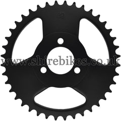Kitaco 40T Black Rear Sprocket suitable for use with Z50A, Z50J1, Z50J, Z50R & Chinese Copies