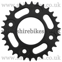Kitaco 30T Black Rear Sprocket suitable for use with MSX125 GROM, Monkey 125