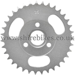 35T Rear Sprocket suitable for use with CZ100, Z50M, Z50A, Z50J1, Z50J, Z50R & Chinese Copies