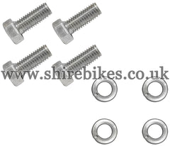 Honda Barstep Bolts & Washer Set suitable for use with CZ100, Z50M, Z50A, Z50J1, Z50R, Z50J, Dax 6V, Chaly 6V, Dax 12V, C90E & Chinese Copies