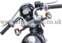 Custom Low Folding Handlebars (Pair) suitable for use with Monkey Bike Motorcycles
